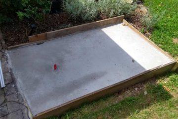 Das getrocknete Fundament für die Outdoorküche